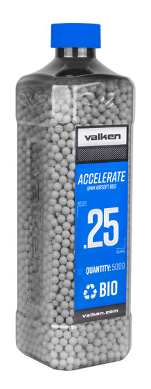 Valken ACCELERATE 0.25g BIO-5000ct-White