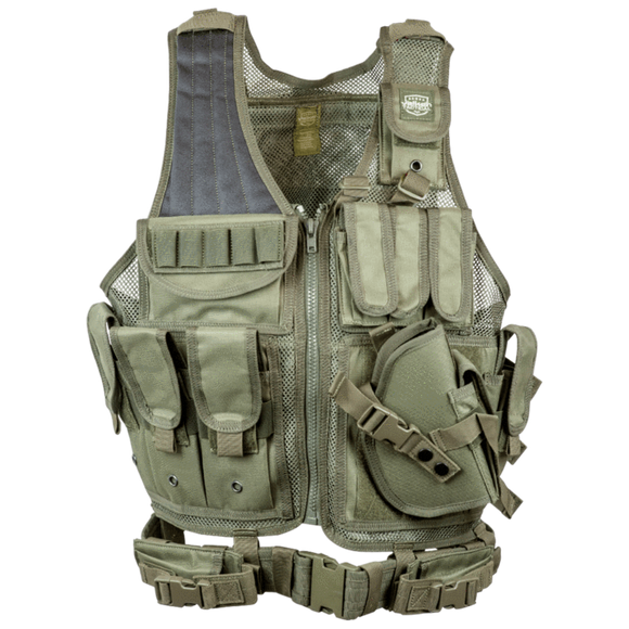 Valken Cross Draw Vest (Adult)- Olive