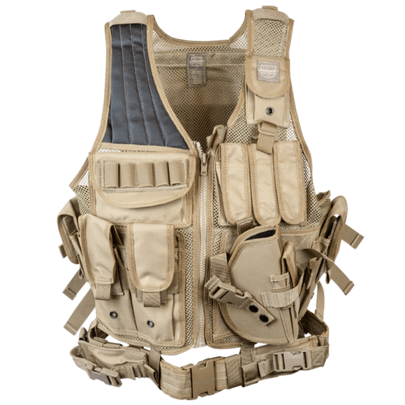 Valken Cross Draw Vest (Adult)- Tan