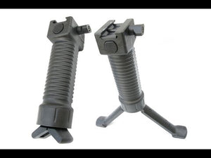 Scar Type Vertical Support Tactical Bipod Grip- Black