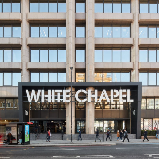 Exterior shot of whitechapel office building