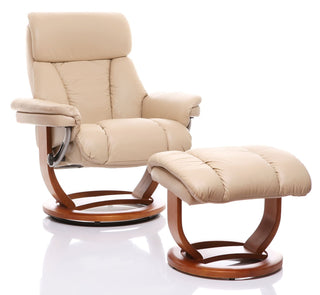 Genuine Leather Swivel Recliners