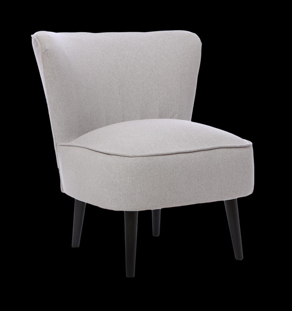 The Washington - Occasional Accent Cocktail Chair in Dolly Chrome Fabric