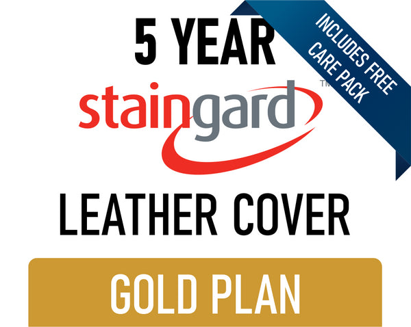 5 Year Stain & Accidental Damage Cover - Leather - Gold - Includes Care Pack