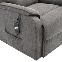 Henley Riser Recliner Chair Dual Motor Heat & Massage Grey Fabric - Clearance