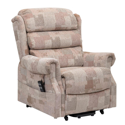 Lincoln Petite - Riser Recliner Chair In Soft Autumn Mosaic Fabric
