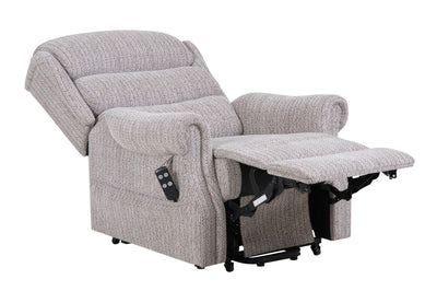 Lincoln Standard - Dual Motor Riser Recliner Chair In Soft Wheat Fabric