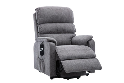 Valencia Dual Motor Riser Recliner Mobility Lift Chair in Grey Fabric