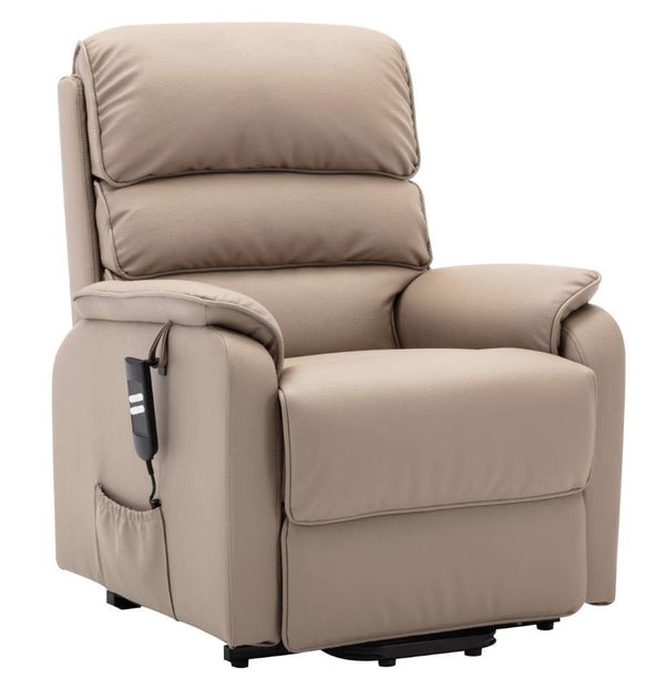 Valencia Dual Motor Riser Recliner Mobility Lift Chair in Pebble Plush
