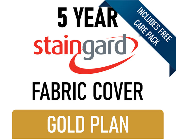 5 Year Stain & Accidental Damage Cover - Fabric - Gold - Includes Care Pack