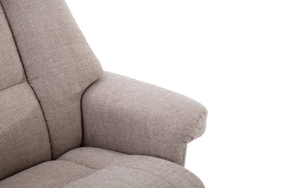 Biarritz Soft Fabric Swivel Recliner Chair & Matching Footstool In Lisbon Wheat