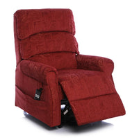The Augusta - Dual Motor Riser Recliner Mobility Chair in Soft Fabric Finish - Terracotta