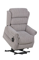 Lincoln Petite - Dual Motor Riser Recliner Chair In Soft Wheat Fabric