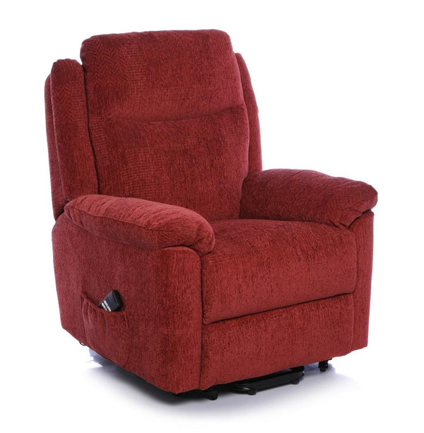 The Evesham - Mobility Riser Recliner Arm Chair - Soft Fabric in Terracotta