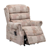 Lincoln Standard - Dual Motor Riser Recliner Chair In Soft Autumn Mosaic Fabric