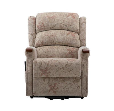 The Leicester Dual Motor Riser Recliner Mobility Lift Chair in Bouquet Beige