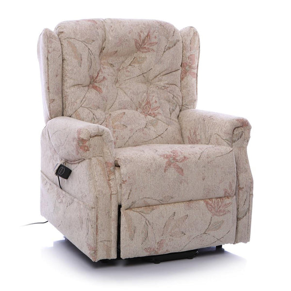 The Oldbury Riser Recliner / Lift & Tilt Chair, Beige Fabric with USB Charging