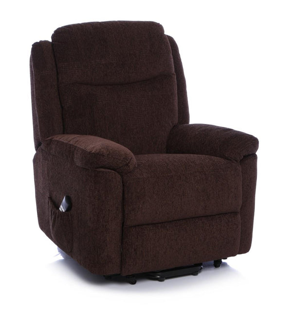 The Evesham - Mobility Riser Recliner Arm Chair - Soft Fabric in Chocolate