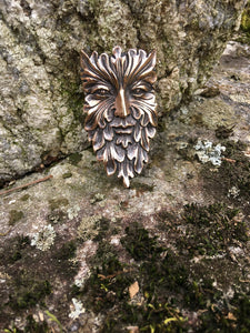 Green Man Pin
