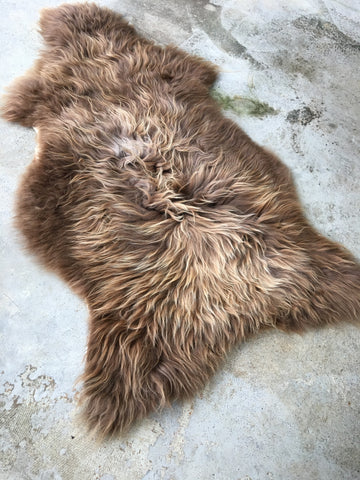 Rusty Brown Icelandic Sheepskin