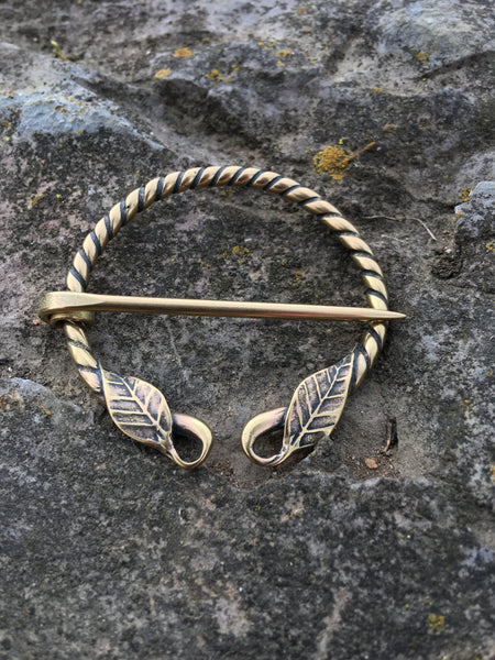 Simple Leaf Viking Penannular Brooch