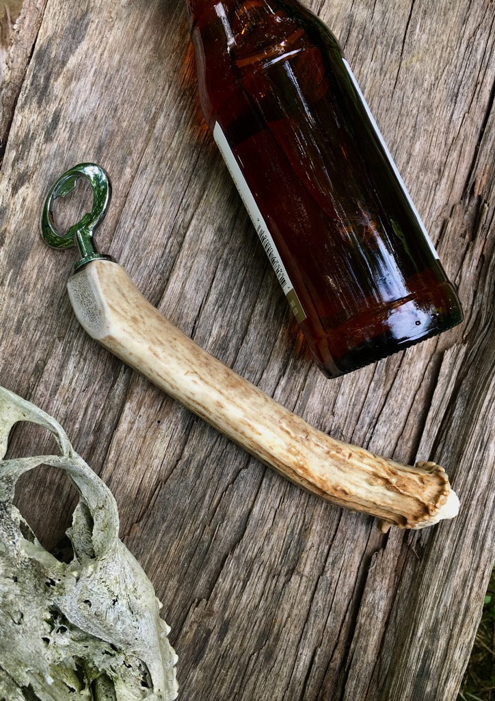 Streamlined Antler Handle Bottle Opener