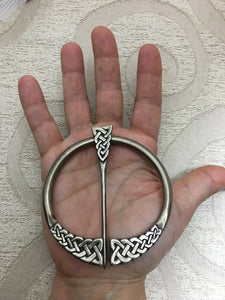 Celtic Knotwork Shawl Pin~large