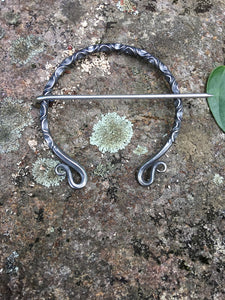 HandForged Penannular Brooch Shawl Pin Viking Clasp