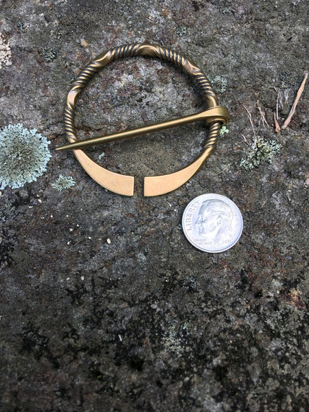 Forged Brass Penannular Brooch