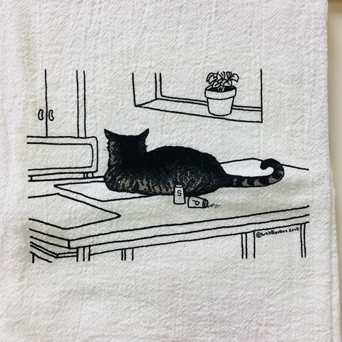 Claim! Cat Tea Towel
