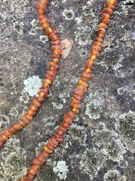 Raw Semi ~ Rounded Baltic Amber Necklace