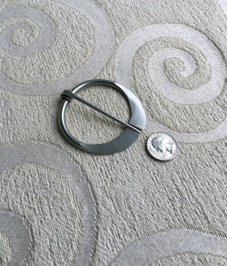Large Stainless Steel Shawl Pin