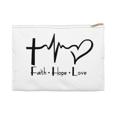 Faith Hope Loved Accessory Pouch