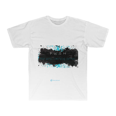 PRAY UNTIL SOMETHING HAPPENS Men's Surf Tee