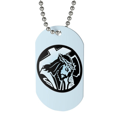Dog Tag - Jesus with Cross