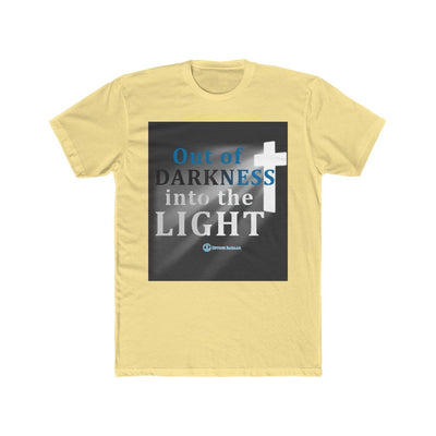 Men's Cotton Crew Tee - Out of the Darkness into The Light