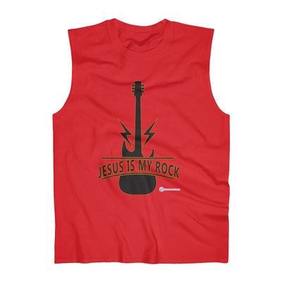 Men's Ultra Cotton Sleeveless Tank - Jesus Is My ROCK