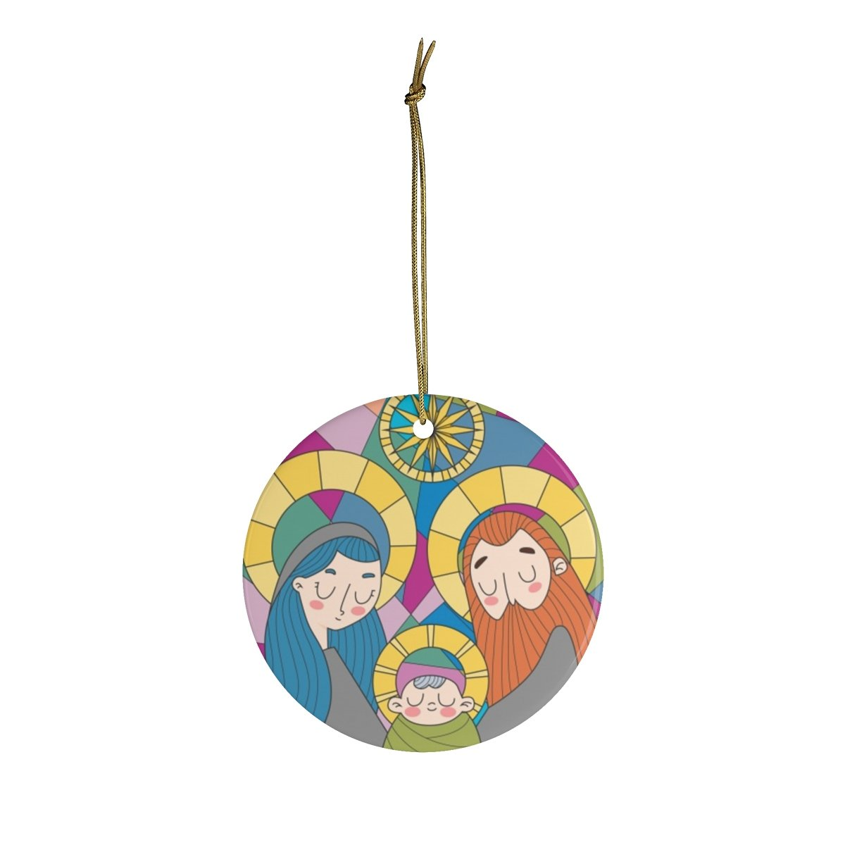 Ceramic Ornaments Nativity scene