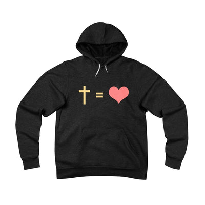 Cross And Heart Unisex Sponge Fleece Pullover Hoodie