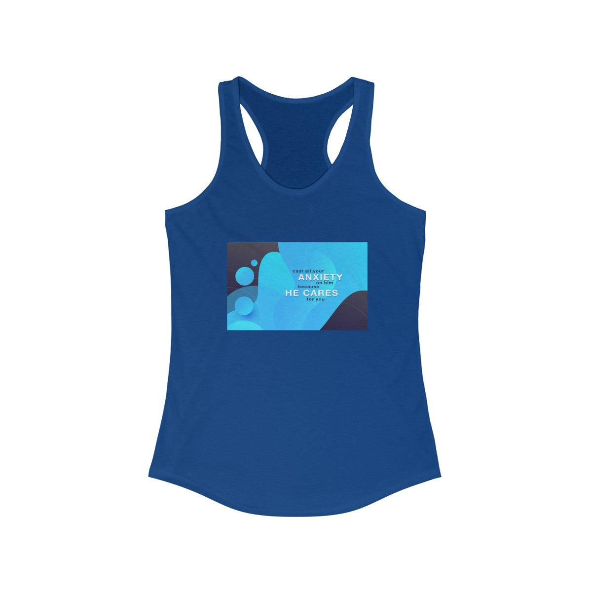 cast all your ANXIETY Women's Ideal Racerback Tank
