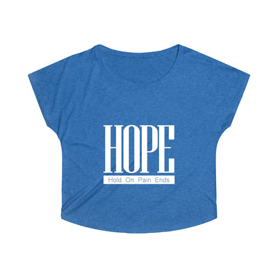 Hope Above Women's Tri-Blend Dolman