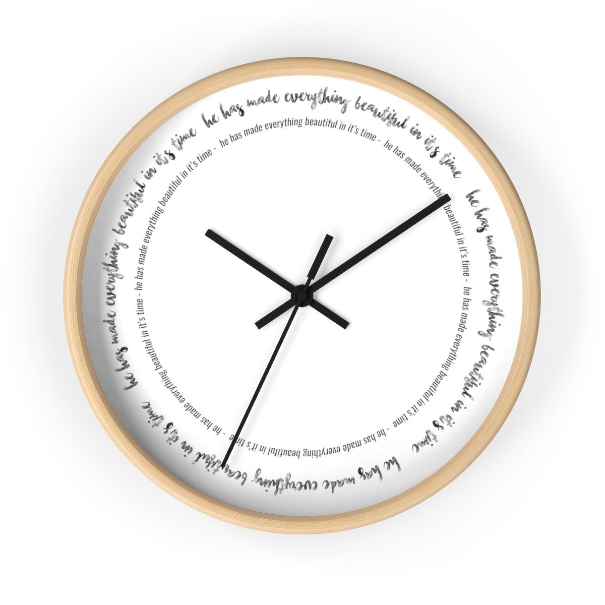 Bible Verse Wall clock