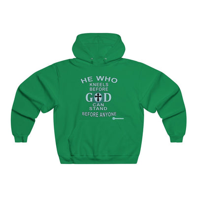 Men's NUBLEND® Hooded Sweatshirt - He Who Kneels Before God Can Stand Before Anyone