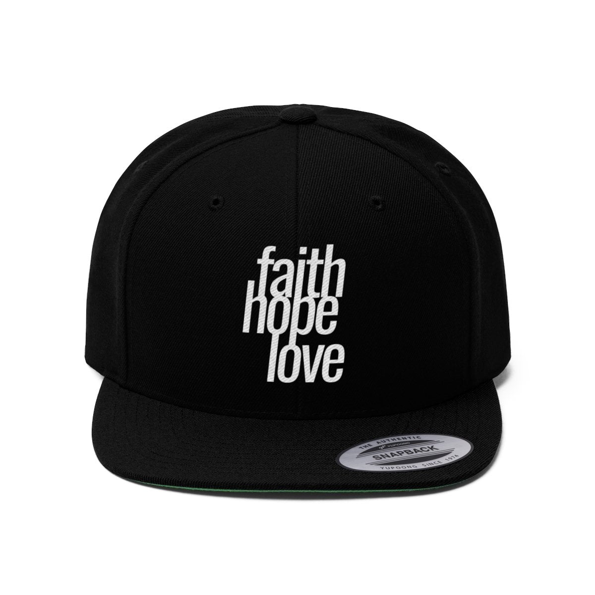 Faith Hope Love Unisex Flat Bill Hat