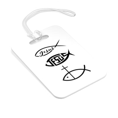 Religious Fish Symbol Bag Tag