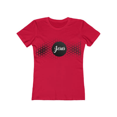 Jesus Pattern Women's The Boyfriend Tee