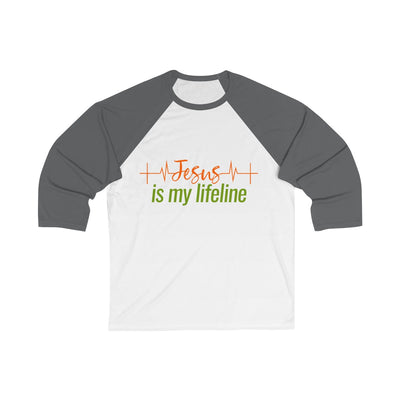 Jesus is my Lifeline Unisex 3/4 Sleeve Baseball Tee