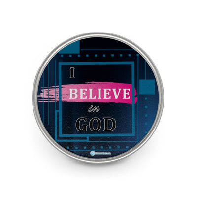 Metal Pin - I Believe in God