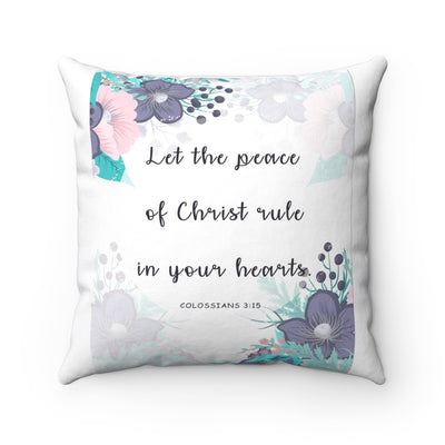 Christ Rule Spun Polyester Square Pillow