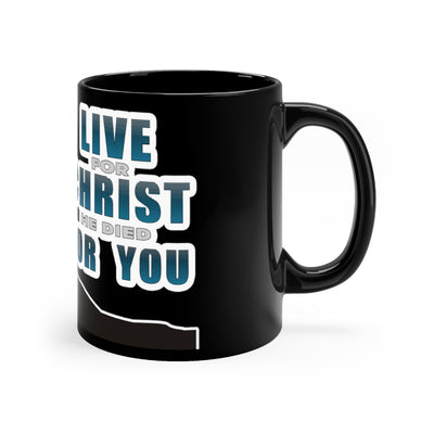 Living for Christ Black Mug
